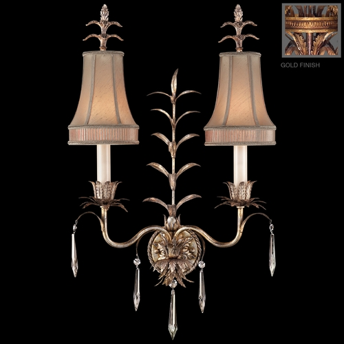 Fine Art Lamps Fine Art Lamps Pastiche Antique Gold Sconce 409050-2ST