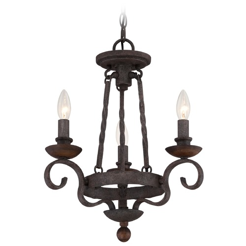 Quoizel Lighting Quoizel Noble Rustic Black Mini-Chandelier NBE5303RK