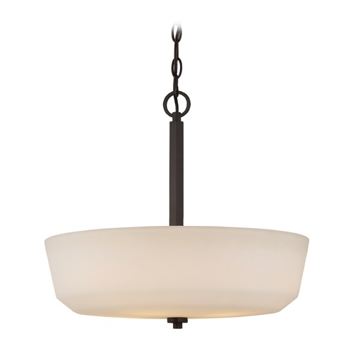 Nuvo Lighting Nuvo Lighting Willow Aged Bronze Pendant Light with Bowl / Dome Shade 60/5907