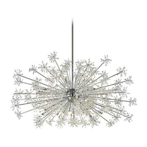 Elk Lighting Elk Lighting Snowburst Polished Chrome Pendant Light 11897/30