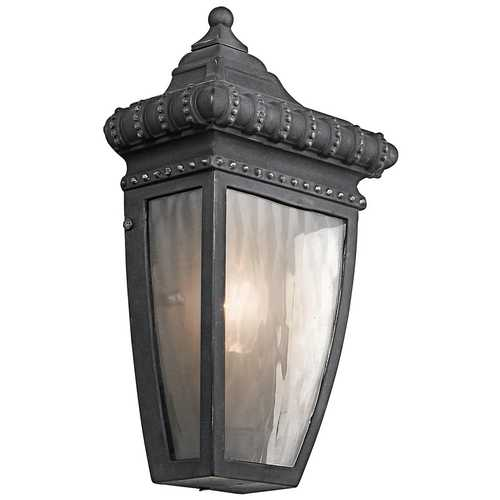 Kichler Lighting Kichler Outdoor Wall Light with Clear Glass in Black W/gold Finish 49130BKG