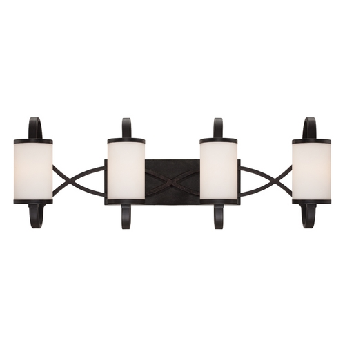 Designers Fountain Lighting Modern Bathroom Light with White Glass in Artisan Finish 84404-ART