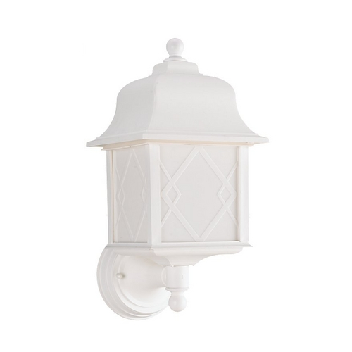 Sea Gull Lighting Outdoor Wall Light with White Acrylic in White Finish 88113BLE-15
