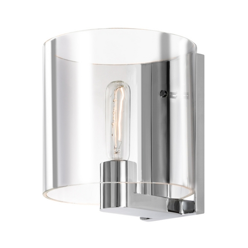 Sonneman Lighting Modern Sconce Wall Light with Clear Glass in Polished Chrome Finish 3690.01C