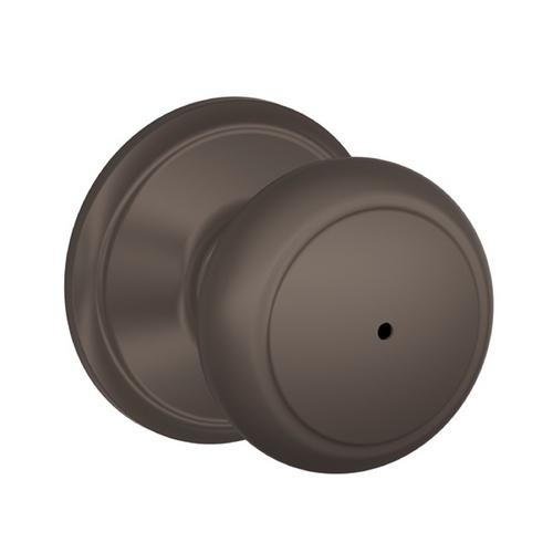 Oil Rubbed Bronze Circular Knob Privacy Set Sh Fa40And613Sh