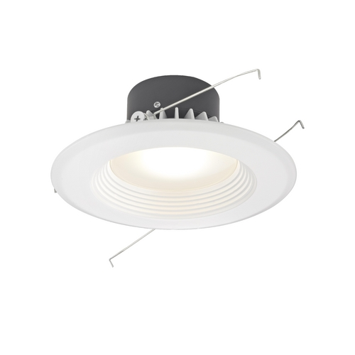 Recesso Lighting by Dolan Designs LED Retrofit Trim with White Baffle for 5 or 6 Inch Recessed Cans 3000K 1100 Lumens 10900-05