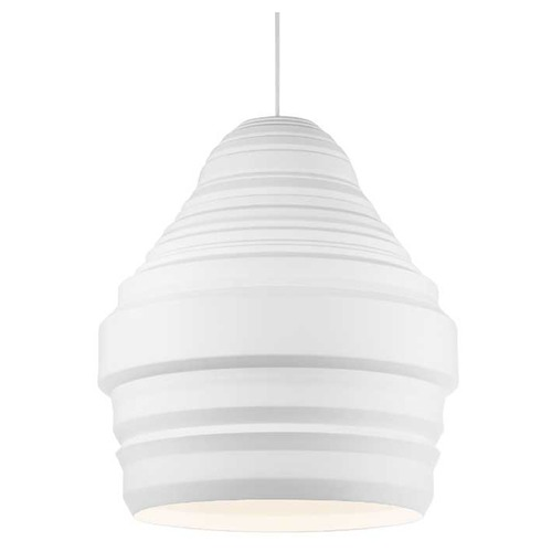 Tech Lighting Ryker Small White Pendant 700TDRYKPSWW-LED827