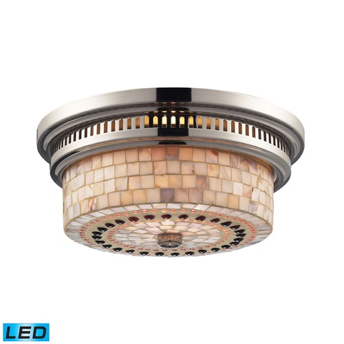 Elk Lighting Elk Lighting Chadwick Polished Nickel LED Flushmount Light 66411-2-LED