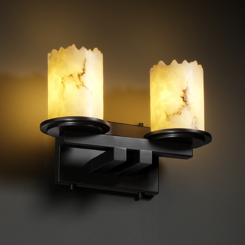 Justice Design Group Justice Design Group Lumenaria Collection Bathroom Light FAL-8772-12-MBLK