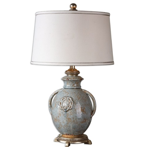 Uttermost Lighting Uttermost Cancello Blue Glaze Lamp 26483