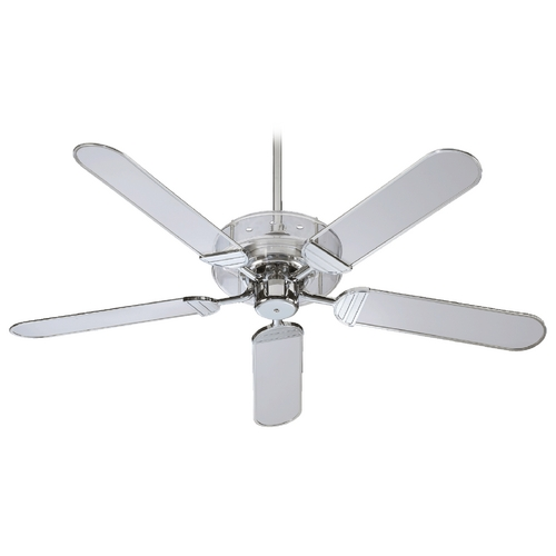 Quorum Lighting Quorum Lighting Prizzm Chrome Ceiling Fan Without Light 400525-14