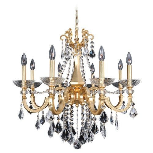 Allegri Lighting Allegri Barret 8-Light Crystal Chandelier in French Gold / 24K 025451-011-FR001