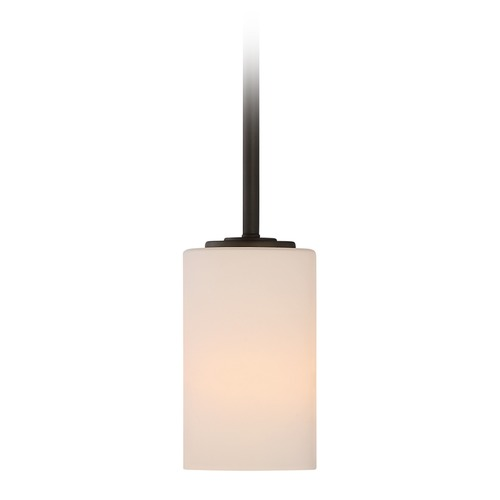 Nuvo Lighting Nuvo Lighting Willow Aged Bronze Mini-Pendant Light with Cylindrical Shade 60/5908