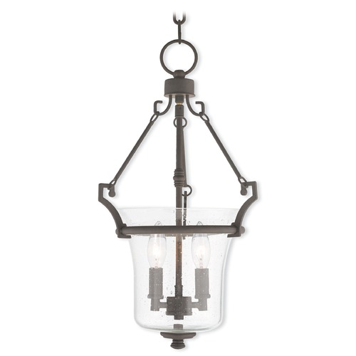 Livex Lighting Livex Lighting Buchanan Bronze Pendant Light with Bowl / Dome Shade 50402-07