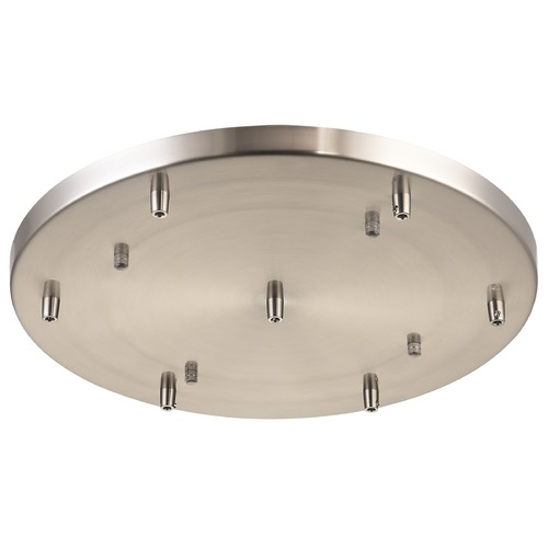 Matteo Lighting Matteo Lighting Multi Ceiling Canopy (line Voltage) Brushed Nickel Ceiling Adaptor CP0107BN