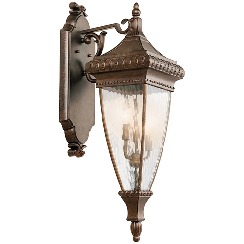 Kichler Lighting Kichler Outdoor Wall Light with Clear Glass in Bronze Finish 49132BRZ