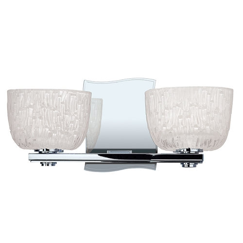 Hudson Valley Lighting Modern Bathroom Light with White Glass in Polished Chrome Finish 2662-PC