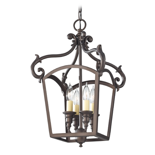 Feiss Lighting Pendant Light in Oil Rubbed Bronze Finish F2801/4ORB