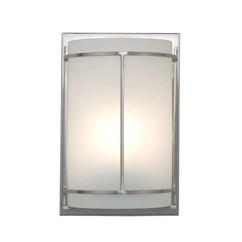 Design Classics Lighting ADA Approved Single-Light Sconce with Metal Banded Accents DCL 6711-09