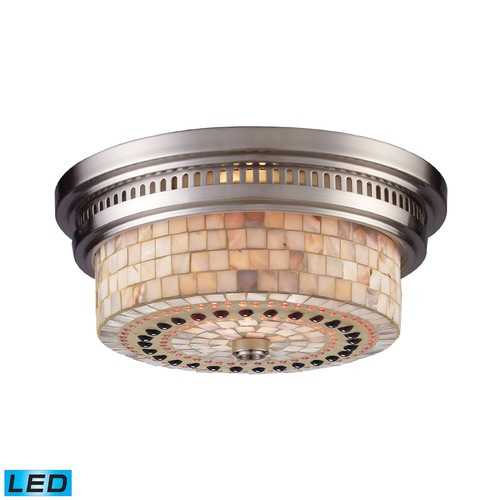 Elk Lighting Elk Lighting Chadwick Satin Nickel LED Flushmount Light 66421-2-LED