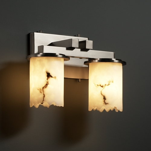 Justice Design Group Justice Design Group Lumenaria Collection Bathroom Light FAL-8772-12-NCKL