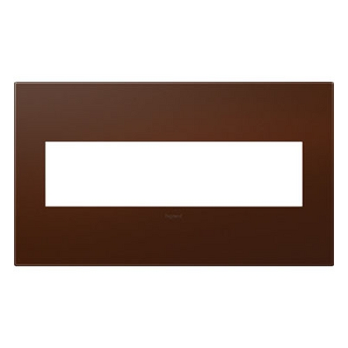Legrand Adorne Legrand Adorne Soft Touch Russet 4-Gang Switch Plate AWP4GRS4