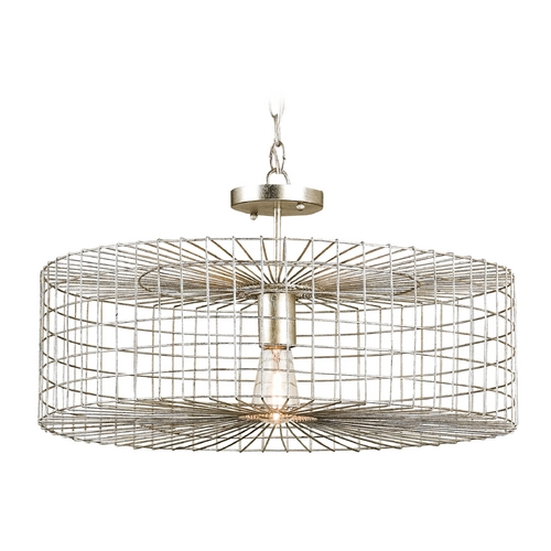 Currey and Company Lighting Currey and Company Lighting Silver Leaf Pendant Light 9303