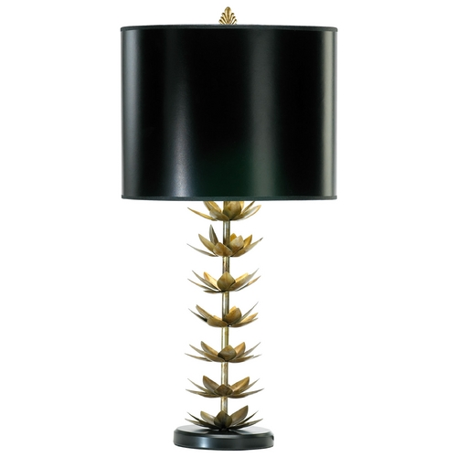 Cyan Design Cyan Design Lotus Leaf Golden Patina Table Lamp with Drum Shade 02806