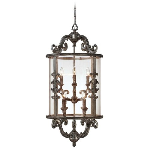 Savoy House Savoy House Silver Lace Pendant Light with Cylindrical Shade 3-2502-8-176