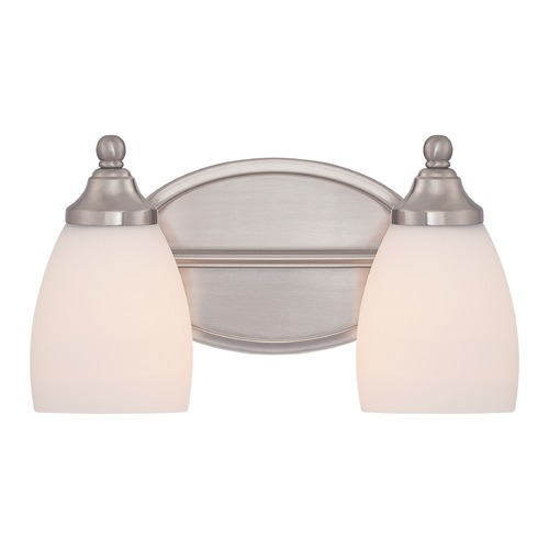 Quoizel Lighting Quoizel North Gate Brushed Nickel Bathroom Light NGT8602BN