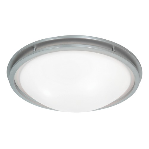 Access Lighting Access Lighting Aztec Brushed Steel LED Flushmount Light 20457LEDD-BS/WHT