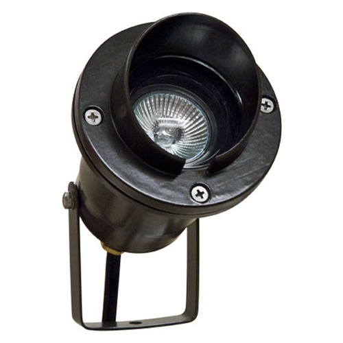 Dabmar Lighting Black Cast Aluminum Directional Spot Light with Hood LV109-B