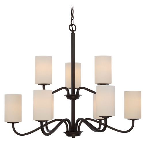 Nuvo Lighting Nuvo Lighting Willow Aged Bronze Chandelier 60/5909