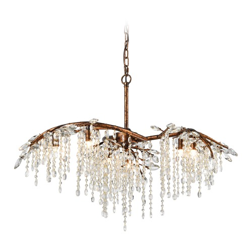 Elk Lighting Elk Lighting Elia Spanish Bronze Crystal Chandelier 11901/6