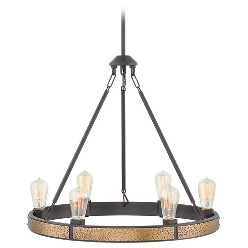 Hinkley Hinkley Everett 6-Light Bronze / Heritage Brass Chandelier 4395BZ