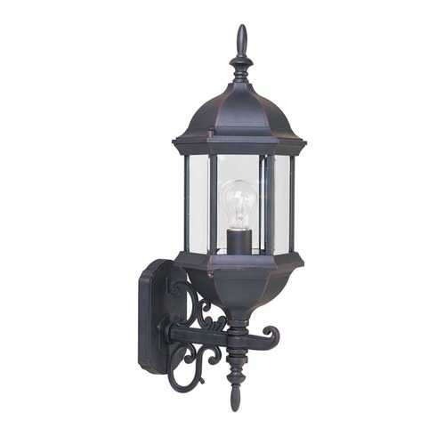 Maxim Lighting Outdoor Wall Light with Clear Glass in Empire Bronze Finish 1072CLEB