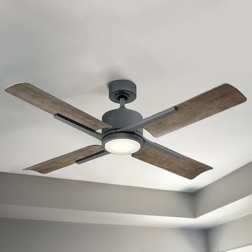 Modern Forms by WAC Lighting Modern Forms Graphite 56-Inch LED Smart Ceiling Fan 1600LM 3000K FR-W1806-56L-GH/WG