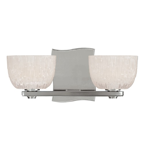 Hudson Valley Lighting Modern Bathroom Light with White Glass in Satin Nickel Finish 2662-SN