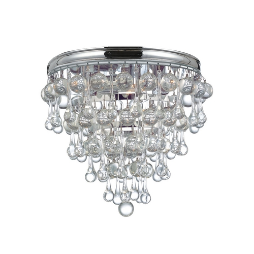 Crystorama Lighting Crystal Flushmount Light in Polished Chrome Finish 135-CH