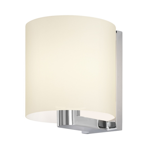 Sonneman Lighting Modern Sconce Wall Light with White Glass in Polished Chrome Finish 3690.01W