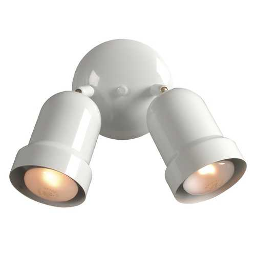 Galaxy Excel Lighting Two-Light Spotlight EX766102WHITE