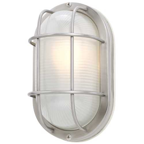 Design Classics Lighting 11-Inch Oval Bulkhead Light 39956 SS