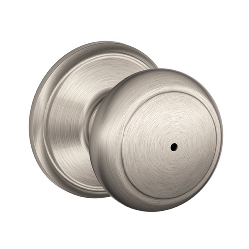Satin Nickel Circular Knob Privacy Set Sh Fa40And619