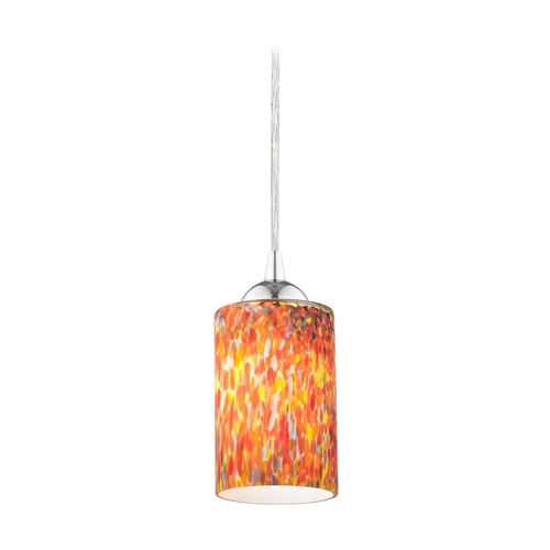 Design Classics Lighting Modern Mini-Pendant Light with Art Glass 582-26 GL1012C