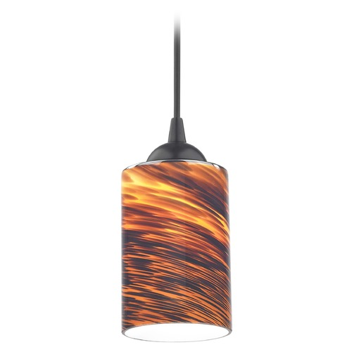 Design Classics Lighting Design Classics Gala Fuse Matte Black LED Mini-Pendant Light with Cylindrical Shade 682-07 GL1023C