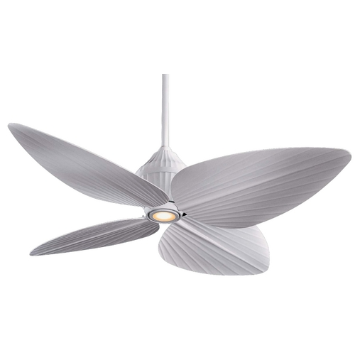 Minka Aire 52-Inch Ceiling Fan with Four Blades and Light Kit F581-WHF