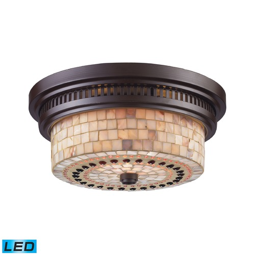 Elk Lighting Elk Lighting Chadwick Oiled Bronze LED Flushmount Light 66431-2-LED