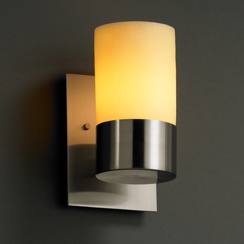 Justice Design Group Justice Design Group Candlearia Collection Sconce CNDL-8761-10-AMBR-NCKL
