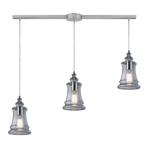 Elk Lighting Multi-Light Pendant Light with Clear Glass and 3-Lights 60052-3L