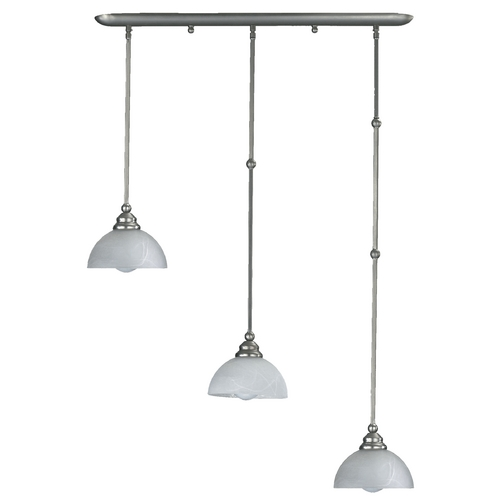 Quorum Lighting Quorum Lighting Hemisphere Satin Nickel Multi-Light Pendant 62-01-365